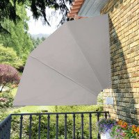 Toldo lateral plegable para el patio, 210 x 210 cm, crema