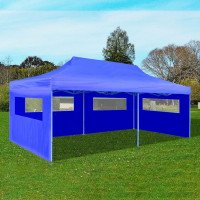 Tenda per feste pop-up pieghevole 3 x 6 m blu