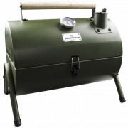 Barbecue a Carbonella e Affumicatore 2 in 1 Verde 03251040