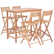 Set da Bar 5 pz in Legno Massello di Teak