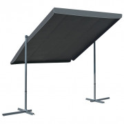 vidaXL Cenador con techo retráctil inclinable 350x250x225 cm antracita