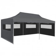 vidaXL Carpa plegable Pop-up con paredes laterales 3x6 m antracita