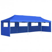 vidaXL Carpa plegable Pop-up con 5 paredes laterales 3x9 m azul