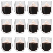 Vasos de cristal térmico doble pared para café 12 uds 320 ml