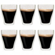 Vasos de cristal térmico doble pared para café 6 uds 370 ml