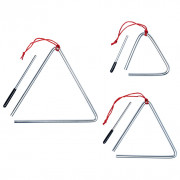 Ensemble de triangles 3 pcs Acier inoxydable