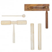 Ensemble de percussion 3 pcs Bois