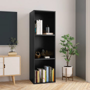 Libreria/Mobile TV Nero 36x30x114 cm in Truciolato