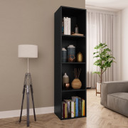 Libreria / Mobile TV Nero 36x30x143 cm in Truciolato