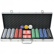 Set da Poker con 500 Chips Alluminio