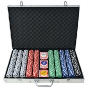 Set da Poker con 1000 Chips Alluminio
