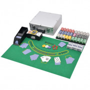 Set da Poker/Blackjack con 600 Chips Laser Alluminio