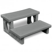 vidaXL Mini-escalera gris para el spa