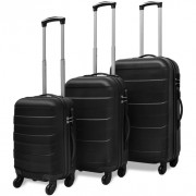 Set Trolley Rigidi 3 pz Nero
