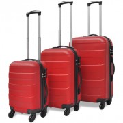Set trolley tre pezzi Rosso