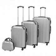 4 Pz. Set di Trolley Rigidi Argento