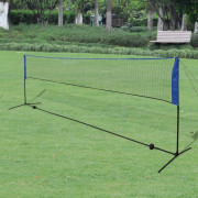Filet de badminton avec volants 500 x 155 cm