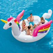 Flotador de piscina unicornio Unicorn Party Island 57266EU