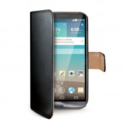 BLACK PU WALLET CASE LG G3