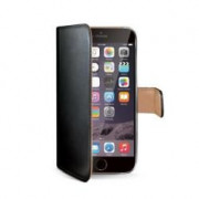 BLACK PU WALLET CASE IPHONE 6 PLUS