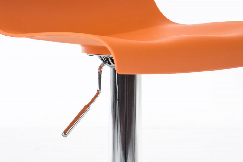 Clp arredamento casa sgabello da bar hoover arancione epto