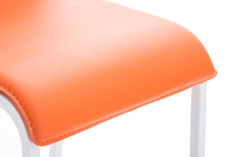 Clp sgabello da bar avola pelle w arancione epto