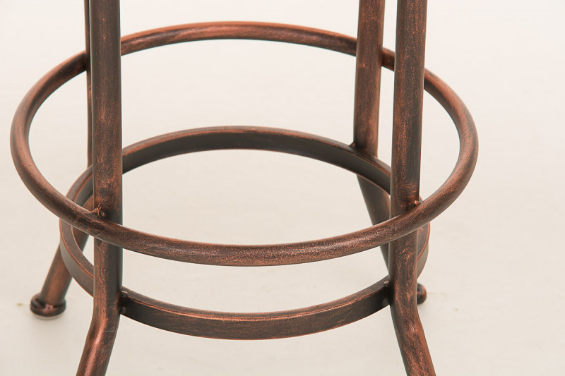 Clp arredamento casa sgabello da bar pino legno bronzo epto
