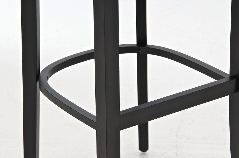 Clp sgabello da bar lionel con braccioli nero epto