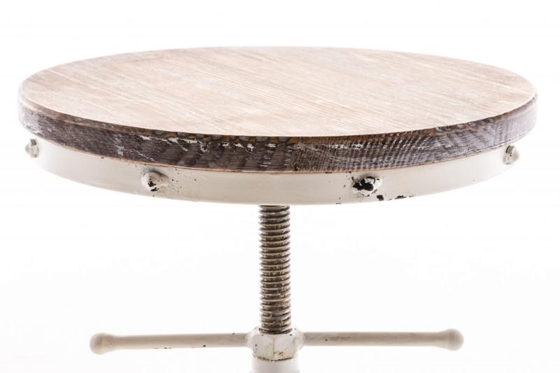 Clp sgabello robot legno bianco antico epto