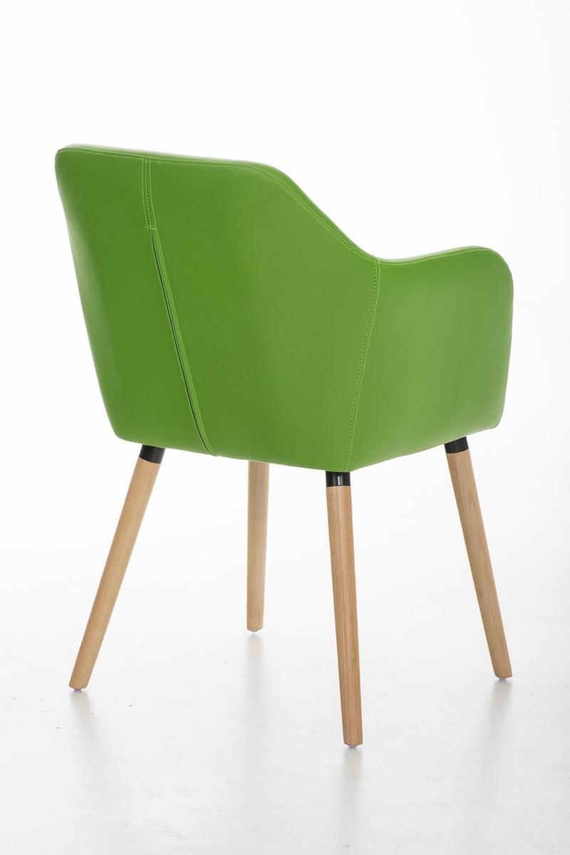 Sedia in Stile r/étro Moderno Verde CLP Sedia Visitatore Picard Design in Tessuto Poltroncina con Telaio in LegnoI Sedia Sala da Pranzo con Braccioli I Sedia Moderna con Schienale