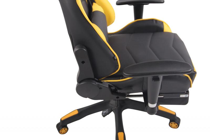 Colore:nero//arancione CLP Poltrona Gaming Massaggiante Turbo XFM In Similpelle I Sedia Racing Ergonomica Riscaldabile Con Massaggio