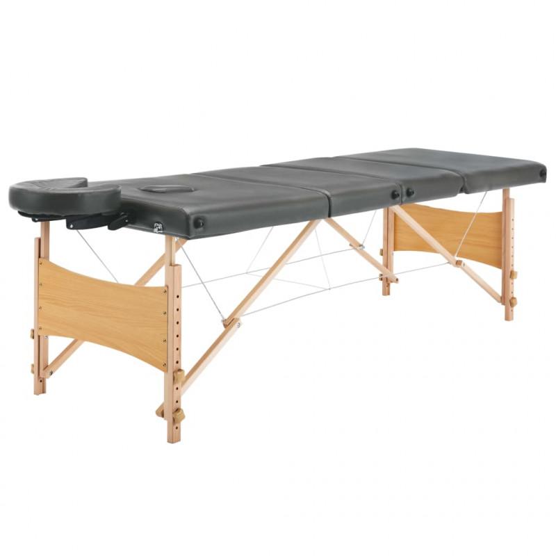 Lettino Massaggio In Legno.Vidaxl Arredo E Complementi Lettino Da Massaggio 4 Zone Telaio