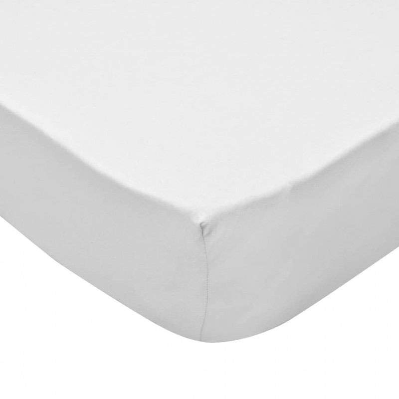 b23336bc7ef vidaXL Sábana bajera para cama de agua 180x200 cm algodón blanca 2 uds.  VX133238