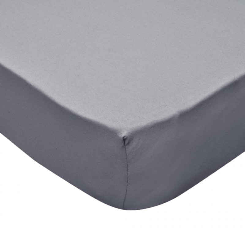 2b5bae93fd9 vidaXL Sábana bajera para cama de agua 180x200 cm algodón gris 2 uds.  VX133246