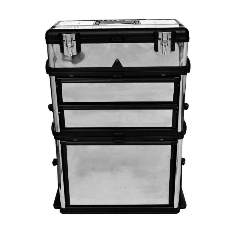 VidaXL VX140301 Caisse valise coffre boîte à outils à roulette ... 89586e5286d1