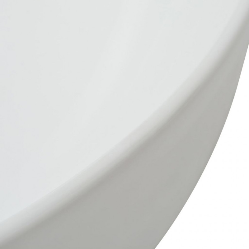 3f04638d9cb3 vidaXL VX142337 Lavabo redondo de cerámica 41,5x13,5 cm blanco ...