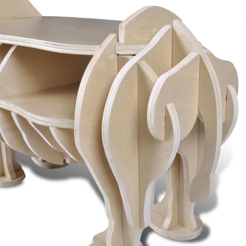 VidaXL Arredamento Casa Cucina Tavolo Rinoceronte in legno per la casa  Mensola per libri