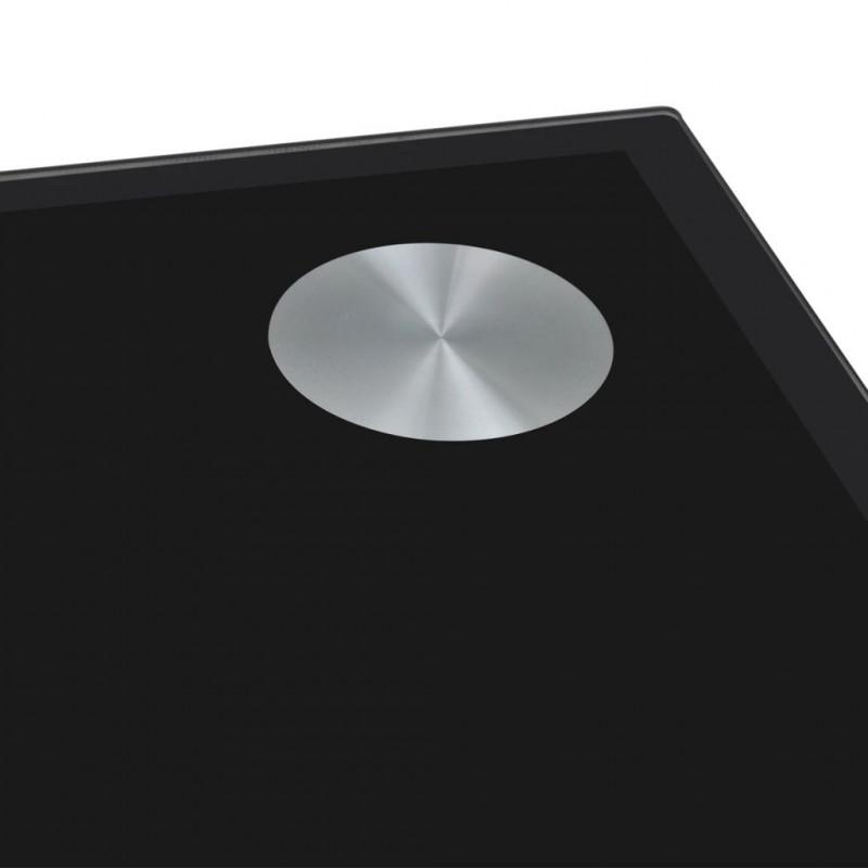Table de salle à manger avec dessus de table en verre Noir Cette table de  salle à manger de haute qualité, conçue avec des lignes épurées, sera un ...