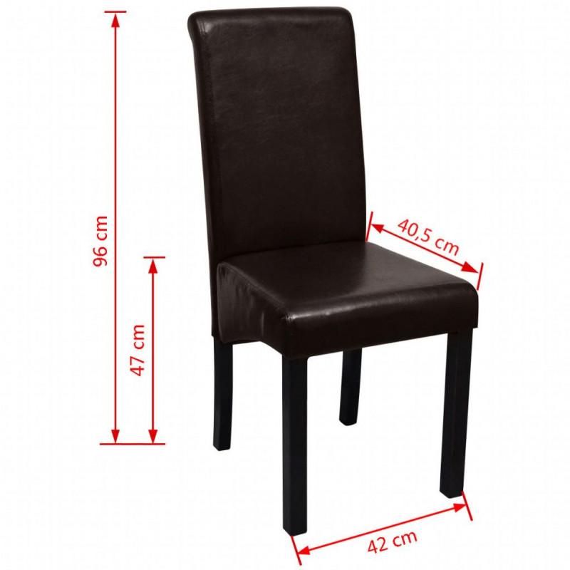 VidaXL Fauteuils et chaises Chaises de salle à manger 2 pcs Marron Similicuir