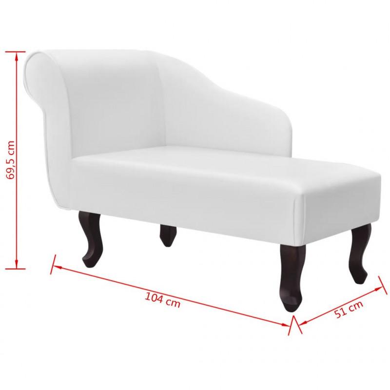 vidaxl chaise longue cuir synthtique blanc vx242405 - Chaise Longue Cuir
