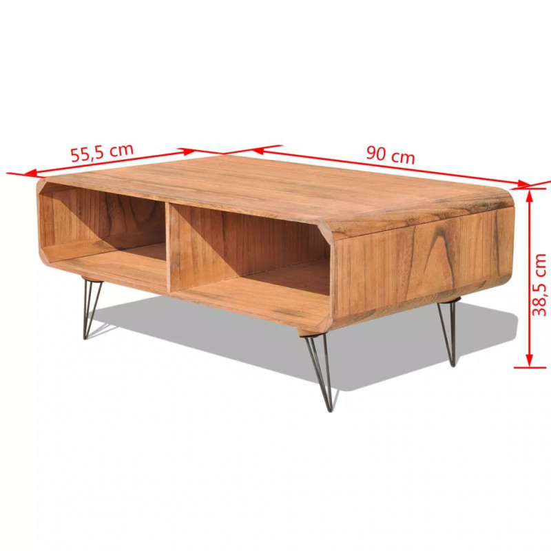 Cm Table 90x55 Marron Basse Bois Vidaxl Tables 5 5x38 4R3jq5AL