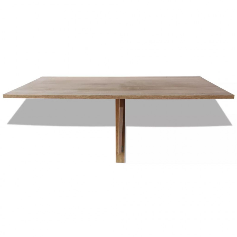 VidaXL Arredamento Casa Cucina Tavolo Pieghevole da Parete in Quercia  100x60 cm