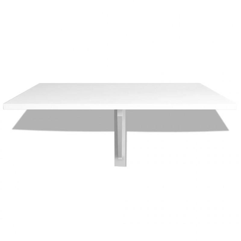 VidaXL Tavolo pieghevole da parete bianco 100x60 cm - Epto