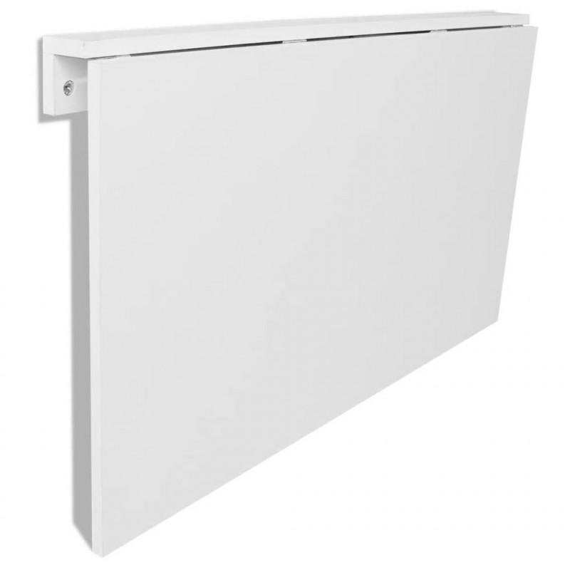 VidaXL Arredamento Casa Cucina Tavolo Pieghevole da Parete Bianco 100x60 cm