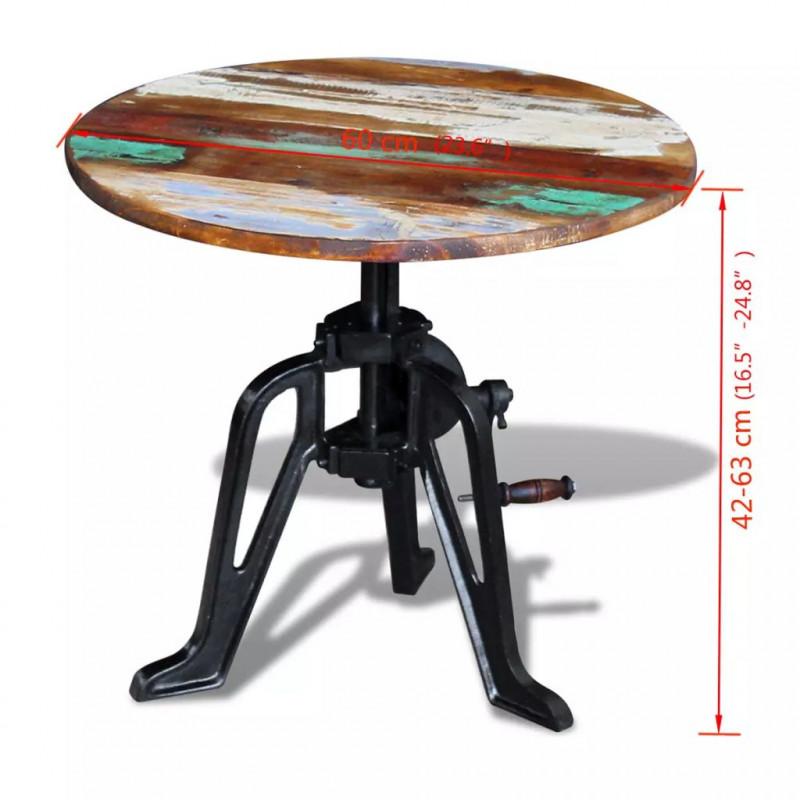 vidaXL Table Auxiliaire en Bois de R/écup/ération Massif Fonte Table Basse