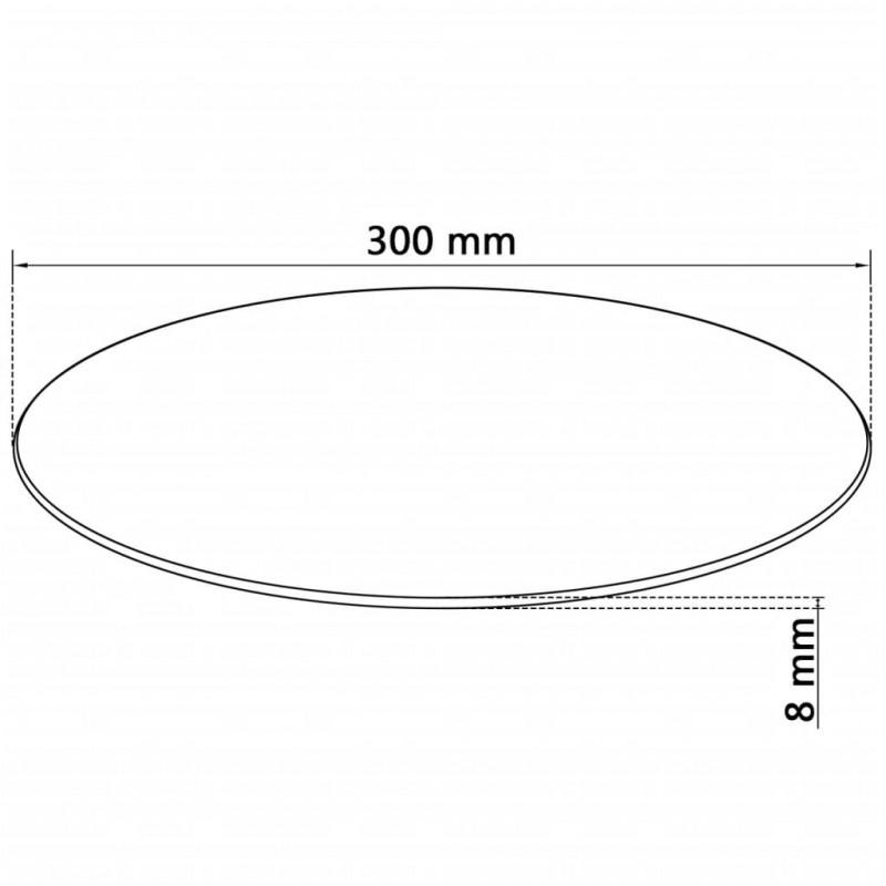 Vidaxl arredamento casa piano tavolo rotondo in vetro temperato 300 mm epto - Tavolo vetro temperato opinioni ...