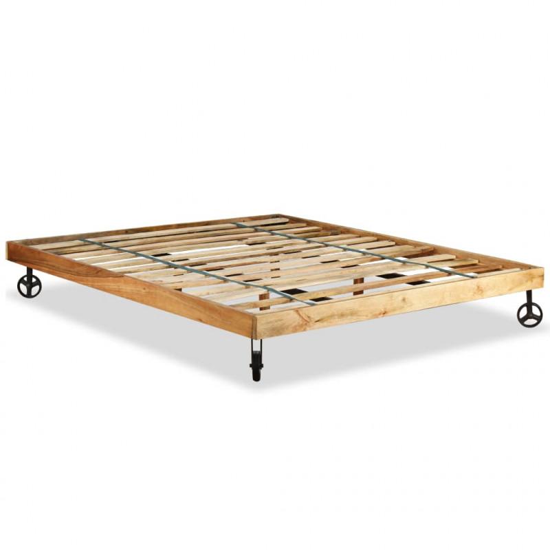 VidaXL - Arredamento Casa Struttura letto in legno grezzo di mango ...