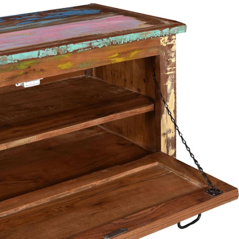 VidaXL - Arredamento Casa Panca scarpiera in legno massello di ...