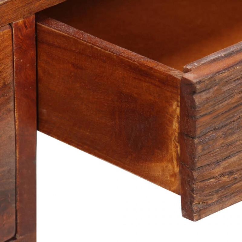 vidaXL Massello di Sheesham e Vera Pelle Scrivania 117x50x76 cm Tavolo Ufficio