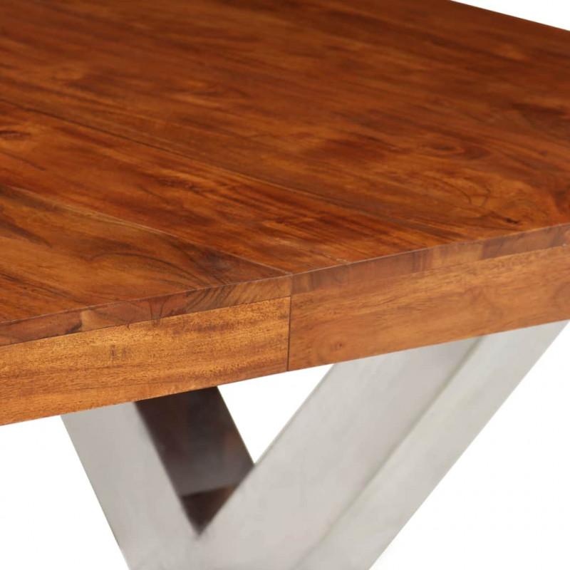 vidaXL Bois de Sesham Solide Table /à D/îner Table de Salle /à Manger Meuble de Cuisine Table de Repas Mobilier /à D/îner Maion Int/érieur
